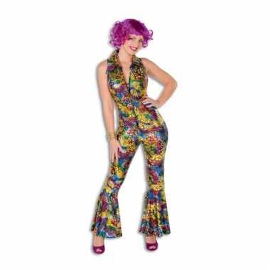 Gekleurde disco carnavalskleding dames goedkoop