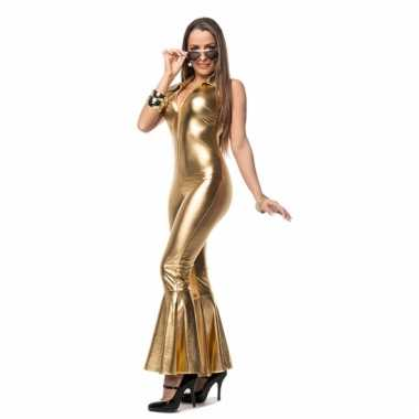 Gouden carnavalskleding catsuit dames goedkoop