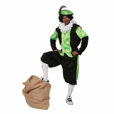 Groen zwarte pieten carnavalskleding budget dames goedkoop