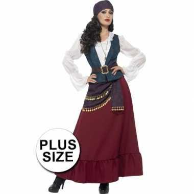 Grote maat dames piraat carnavalskleding goedkoop