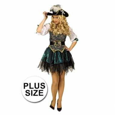 Grote maat musketiers carnavalskleding dames goedkoop