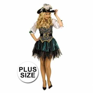 Grote maat piraten carnavalskleding dames goedkoop
