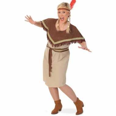 Grote maat Pocahontas carnavalskleding voor dames goedkoop