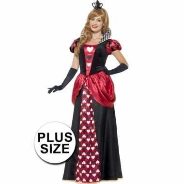 Grote maten dames rode koningin carnavalskleding goedkoop