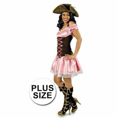 Grote maten piraten carnavalskleding dames goedkoop