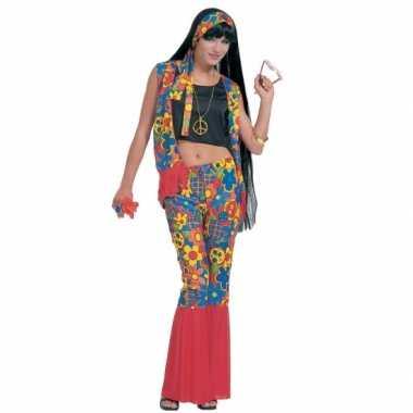 Hippie carnavalskleding peace tekens dames