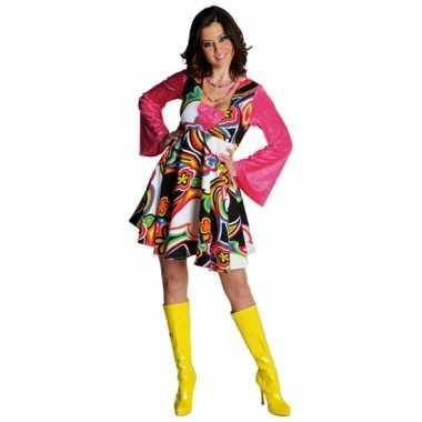 Hippie jurkje carnavalskleding dames goedkoop