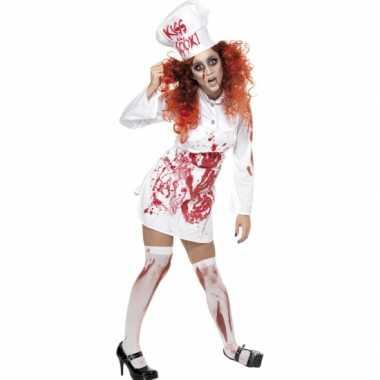 Kokkin carnavalskleding bloed dames goedkoop