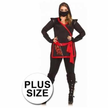 Ninja dames carnavalskleding grote maat goedkoop