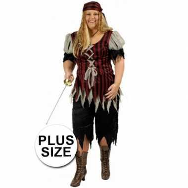 Piraten carnavalskleding grote maat dames goedkoop