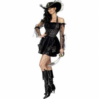 Piraten carnavalskledingje dames zwart goedkoop