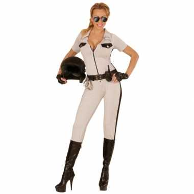 Politie carnavalskleding USA beige dames goedkoop