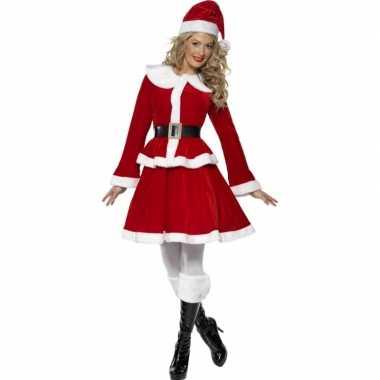 Rode kerst carnavalskleding vrouwen dames goedkoop