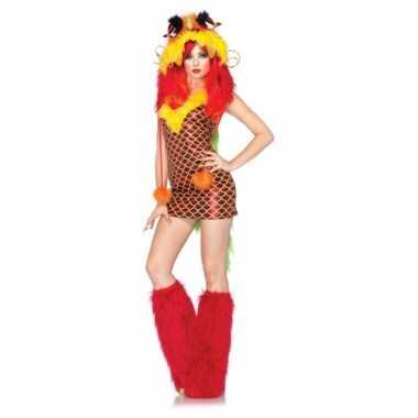 Sexy carnavalskleding draken jurkje dames goedkoop