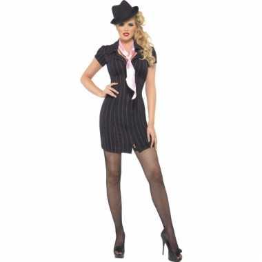 Sexy gangster jurk carnavalskleding dames goedkoop