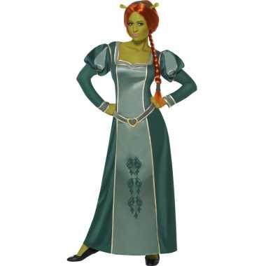 Shrek verkleed carnavalskleding fiona dames
