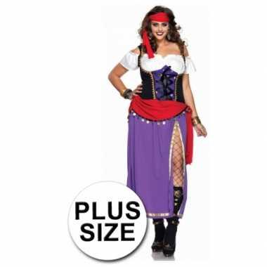 Zigeuner carnavalskleding grote maten dames goedkoop