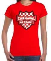 Carnavalskleding carnaval verkleed t-shirt brabant rood voor dames