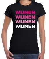 Carnavalskleding wijnen wijnen wijnen wijnen t-shirt zwart dames