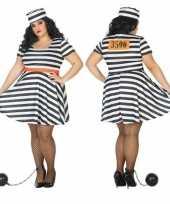 Grote maten carnaval feest boeven gevangenen bonnie verkleedcarnavalskleding jurkje dames
